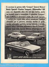 QUATTROR962-PUBBLICITA'/ADVERTISING-1962- GENERAL MOTORS BUICK/PONTIAC/OLDSM.(A)