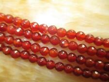 """6mm Faceted Red Ruby Round Gems Loose Beads 15""""##KH143"""
