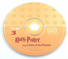 Harry Potter Order of the Phoenix Stephen Fry Audio Book CD SPARE DISC: THREE 3