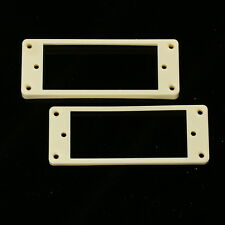 Set of 2 Mini Humbucker Pickup Mounting Rings /Bridge Neck/ ,Curved Bottom Cream