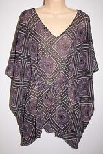 NWT Oneill Swimsuit Bikini Cover Up Dress Tunic Sz M L BLU Adela