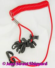 Universal boat coiled 7 key emergency safety cut off kill switch lanyard tether