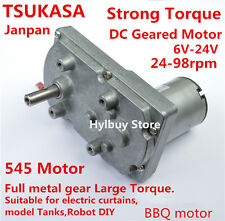 Japan TAKANAWA Strong Torque Gear Motor 6V 12V 24V DC Metal gear Tank Robot DIY