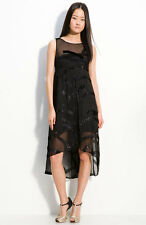 Marc by Marc Jacobs Black Dress Liv Sheer Sparkle Overlay Empire High Lo Party 6