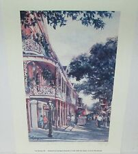 """ANN DELORGE """"A FRENCH QUARTER MORNING"""" NEW ORLEANS LTD SIGNED LITHOGRAPH"""