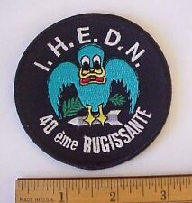 I.H.E.D.N. 40 eme RUGISSANTE Embroidered Military Defense Security Patch