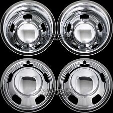 "03-17 DODGE RAM 3500 17"" Dually Chrome Wheel Simulators Dual Skins Liners Covers"