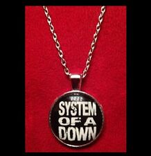 NEW - SYSTEM OF A DOWN MUSIC BAND GLASS OPTIC PENDANT NECKLACE