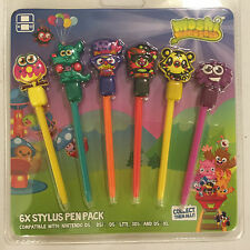 NINTENDO DS NDS DSL NDSL DSi NDSi 2DS 3DS MOSHI MONSTERS STYLUS PEN 6 PACK BNIB