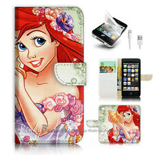 iPhone 5 5S SE Flip Wallet Case Cover P3017 Little Mermaid
