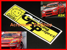 "2x 8.5"" 21.6cm GENKI decal sticker for S15 350Z altezza autobacs gp d1 S14 86 gt"