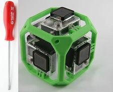 360° Spherical Panorama Mount Halterung für 6x GoPro Go Pro HERO 3 4 grün green