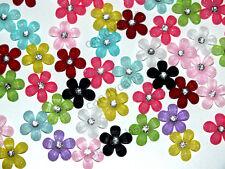 Brillo pequeño candycabs 20 Flores Mezclados Col cabochon flatback Kawaii Hazlo tú mismo Crafts