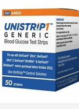 UniStrip 50 Test Strips for Use with Onetouch® Ultra® Meters Exp: 08/2017