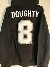 REEBOK Pullover Hoodie NHL Jersey Los Angeles Kings Drew Doughty Black sz M