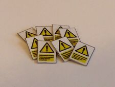 8 x OO Scale Network Rail 'Warning Bi-Directional Working' Signs
