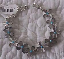 Brighton Silver Turquoise Eden's Garden Bracelet NWT