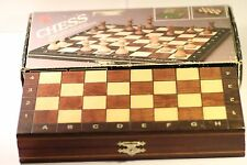 Vintage Negiel Schachspiel Chess Set Beech-Wood Case Sycamore Hand Carved