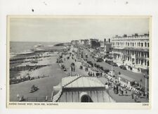 Marine Parade West From Pier Worthing Vintage Postcard 680a