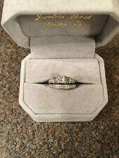 NEIL LANE ENGAGEMENT RING AND WEDDING BAND SET 1 1/8 TCW WHITE GOLD