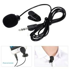 YW-001 Collar Type Mini 3.5mm Microphone Hands Mic Free for PC Laptop