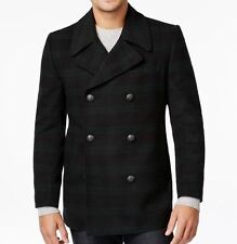 Tallia NEW Navy Blue Green Mens Size 3XL Double Breasted Wool Coat $255 018