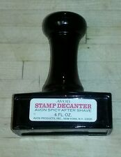 Vintage Avon Rubber Stamp Decanter Spicy After Shave 4 Oz Bottle