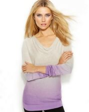 INC INTERNATIONAL CONCEPTS SWEATER LONG SLEEVE COWL NECK OMBRE SAND VIOLET L