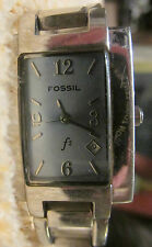 WOMENS  BLUE FACE WATCH BY FOSSIL 6.5 INCHES