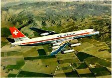 "Cartolina Aviazione - Aereo In Volo Corvair 990 ""Coronado"" Jetliner Swissair - N"
