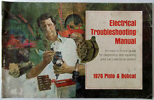 1976 Ford Pinto And Bobcat Electrical Troubleshooting Manual O.E.M. Original