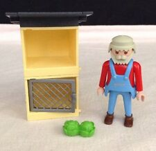 REPLACEMENT Playmobil # 4491 RABBIT HUTCH & FARMER Pieces / Parts
