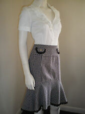 PHASE EIGHT Business Dress White Blouse / Wool Dog Tooth Skirt Size 12