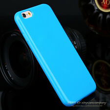 Candy Soft Gel TPU Silicon glossy Phone Case for iPhone 5S 5c 6S Plus Back Cover