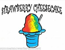 STRAWBERRY CHEESECAKE SYRUP MIX Snow CONE/SHAVED ICE Flavor GALLON CONCENTRATE