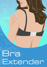 Quality Bra Extender Multipack - 3 HOOK & 4 HOOK in Black, White & Nude - 6 Pack