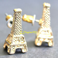 Unique Designed 3D Small Gold Eiffle Tower Earring studs Kids Love