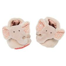 Moulin Roty Les Papoum Elephant Slippers Crib Shoes
