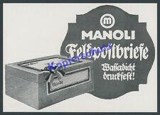 orig Reklame Manoli Zigaretten Feldpostbriefe Postwesen Patriotismus Berlin 1915