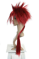 M413 - Final Fantasy RENO Spiky long Hair RED pre-styled Cosplay lang Wig