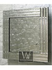 """Trevina Silver Glass Framed Square Bevelled Wall Mirror 32"""" x 32"""" Large"""