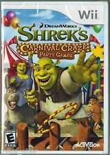 Shrek's Carnival Craze  (Wii, 2008) Factory Sealed