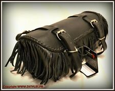Tool bag with Fringe Soft leather for motorcycle custom harley style NEW !