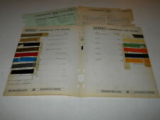 1934-1941 CHEVROLET COMMERC  PAINT CHIP CHART COLORS SHERWIN WILLIAMS PLUS MORE