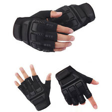 Mens Outdoor Sports Half Finger Fingerless Motorcycle Cycling Protect Gloves New
