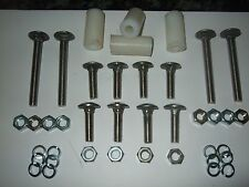 Stainless Bumper Bolt Set for Ford Escort Etc With Spacers (4 long & 8 short)