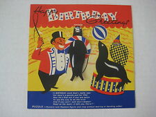 Vintage Circus Birthday Greetings Card - PUZZLE TO SOLVE - Unused