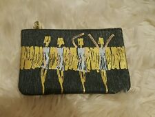 ipsy glam bag cosmetic makeup pouch glitter dancing girls cute