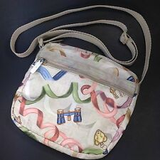 LeSportsac Meander Safari Animal Charms Ribbons Compass Shellie Crossbody Purse