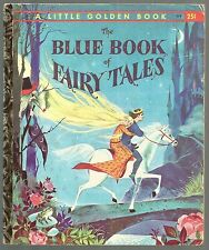 Vintage Children's Little Golden Book THE BLUE BOOK OF FAIRY TALES 1st Ed
